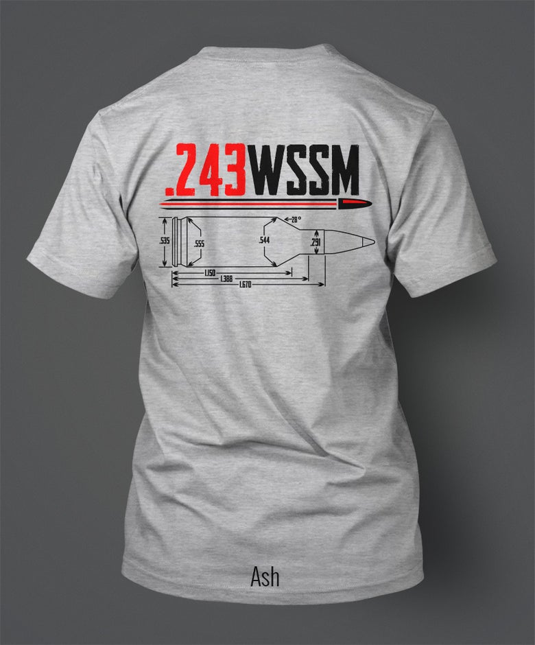 Image of 243 Winchester Super Short Magnum (WSSM) T-Shirt