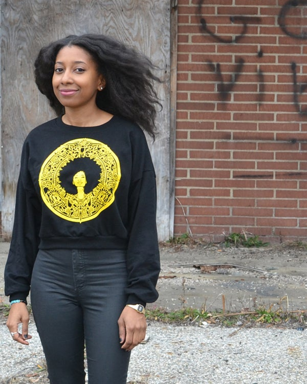 "Image of ""Mother Nature"" Cropped Sweatshirt"