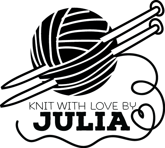 Image of Knit with love needles personalized stamp