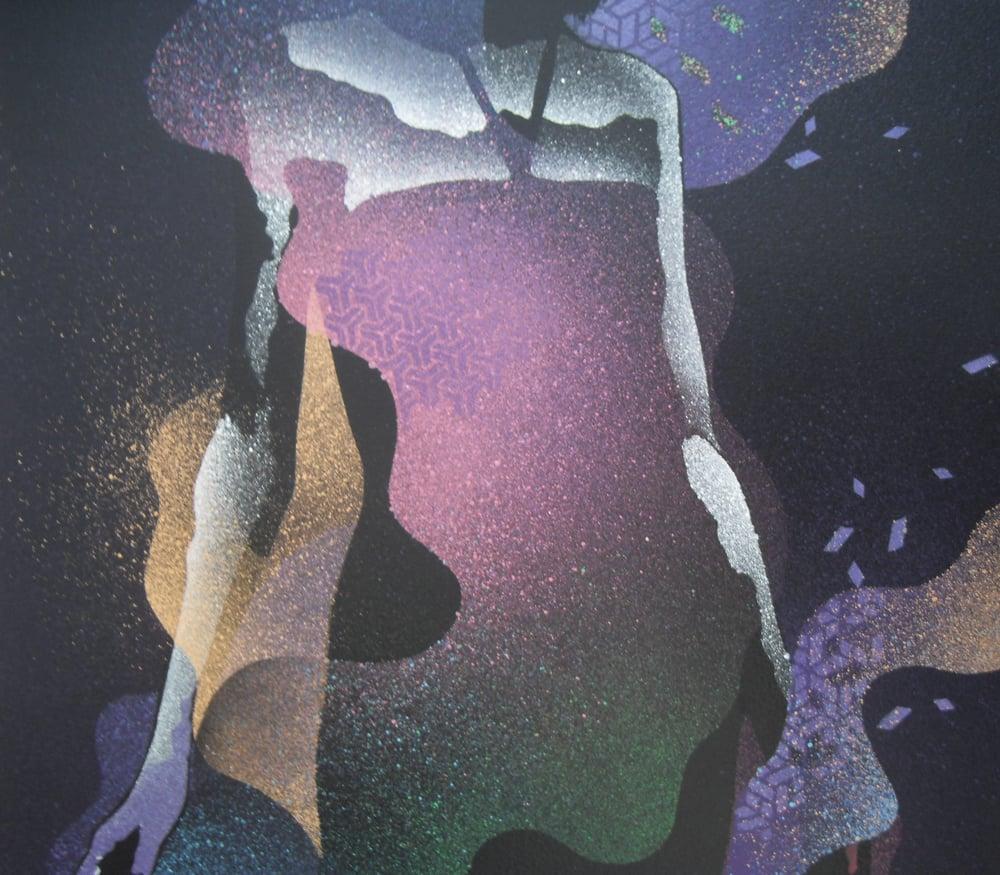 "Image of EELUS ""SUMMONING"" - HAND SPRAYED UNIQUE ORGINAL - 120CM X 80CM"