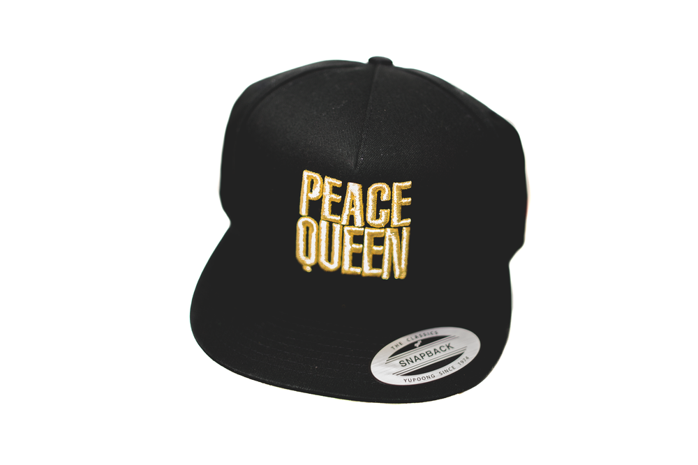 613245115a37a Image of PEACE QUEEN LOGO Snapback- GOLD EDITION ...