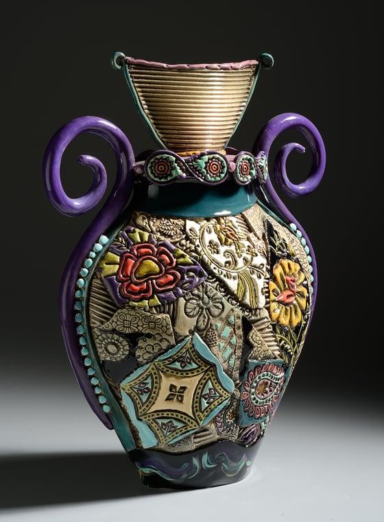 Image of Egyptian Curly Handled Vase (Large)