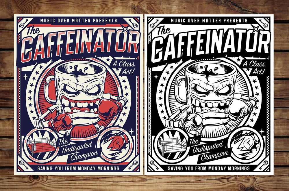 """Caffeinator"" Screen Printed Poster"