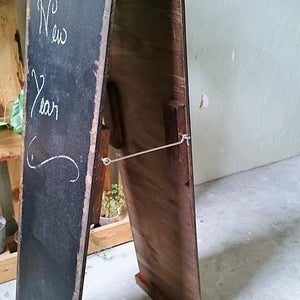 Worn-Out Narrow Double-Sided Standing Chalkboard