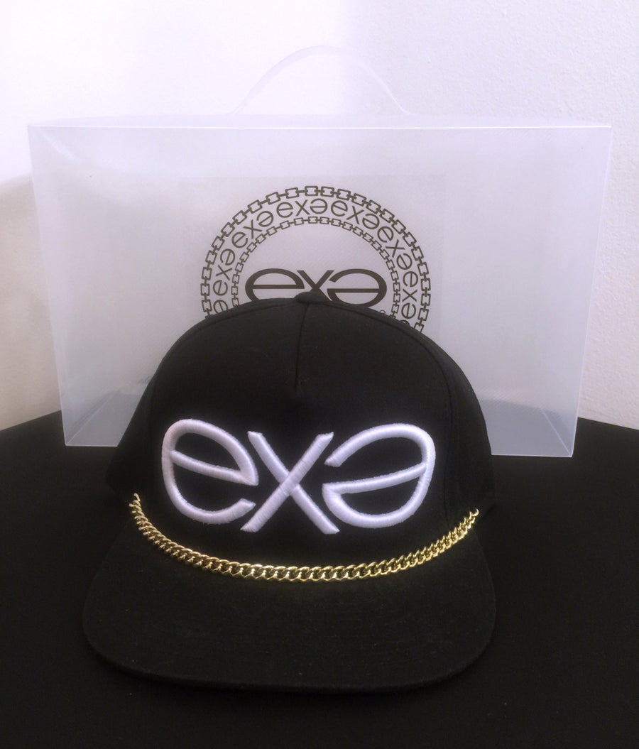 Image of EXPRESSION 06 EVOLUTION - Headwear - Black Cotton with Gold Chain