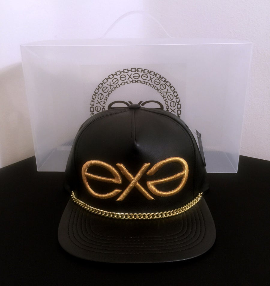 Image of EXPRESSION 06 EVOLUTION - Luxury Headwear - Black with Gold Chain