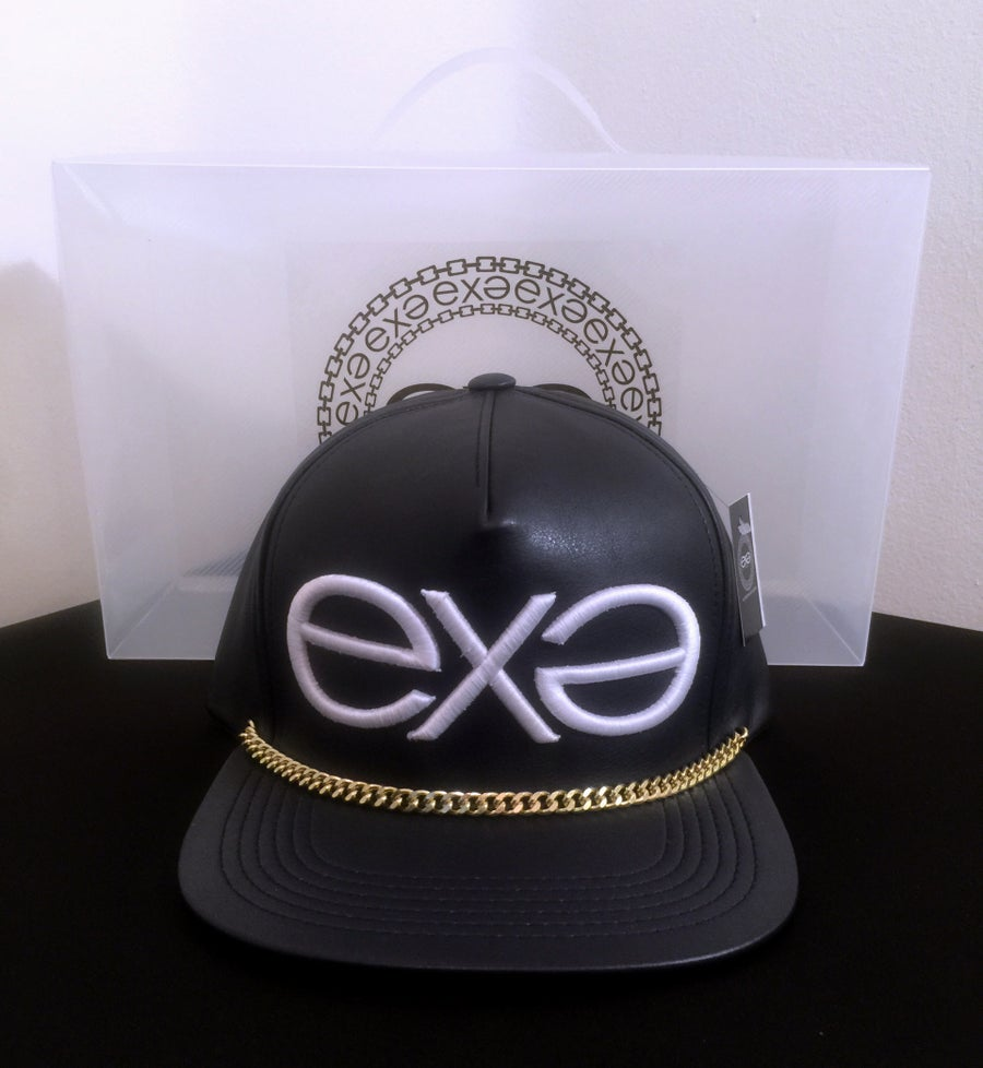 Image of EXPRESSION 06 EVOLUTION - Headwear - Dark Blue with Gold Chain