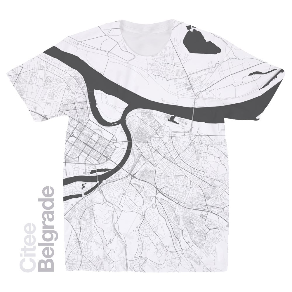 Image of Belgrade map t-shirt