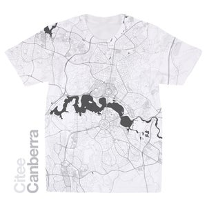Image of Canberra map t-shirt