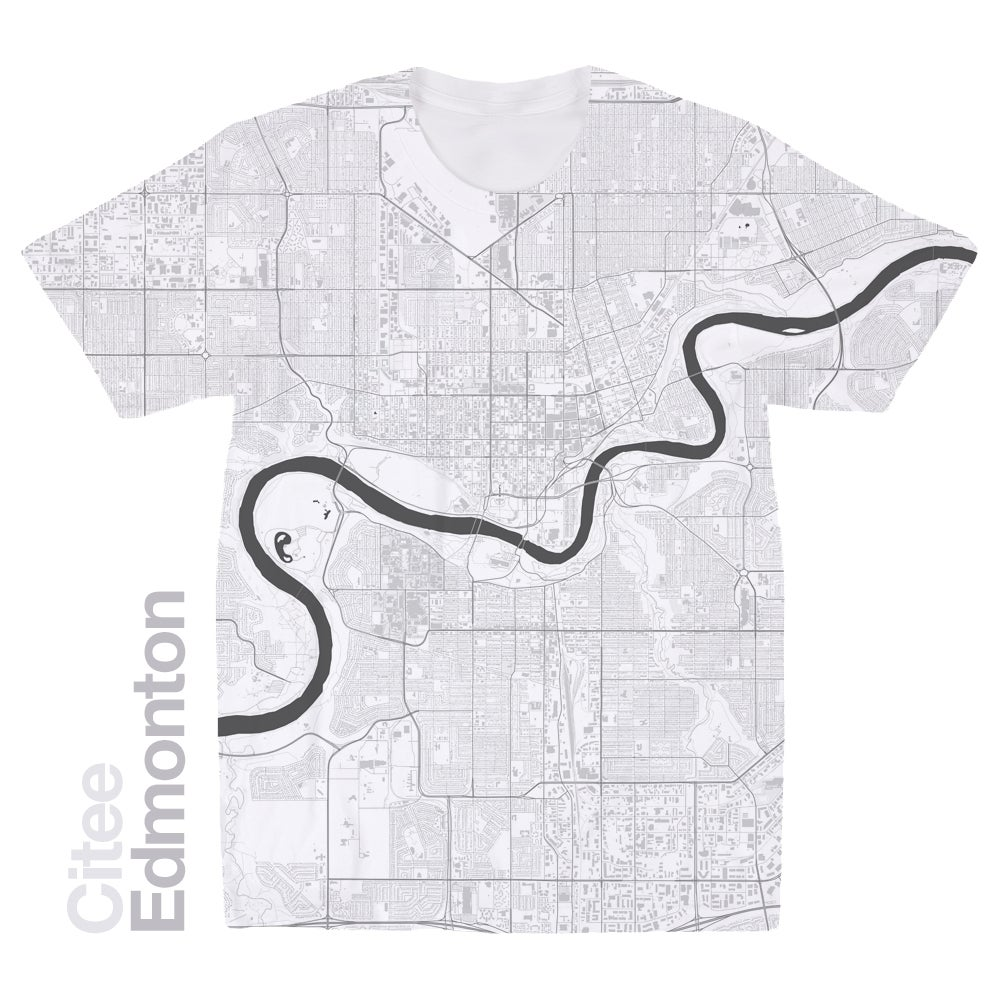 Image of Edmonton map t-shirt