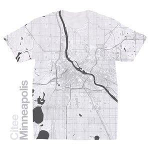 Image of Minneapolis MN map t-shirt
