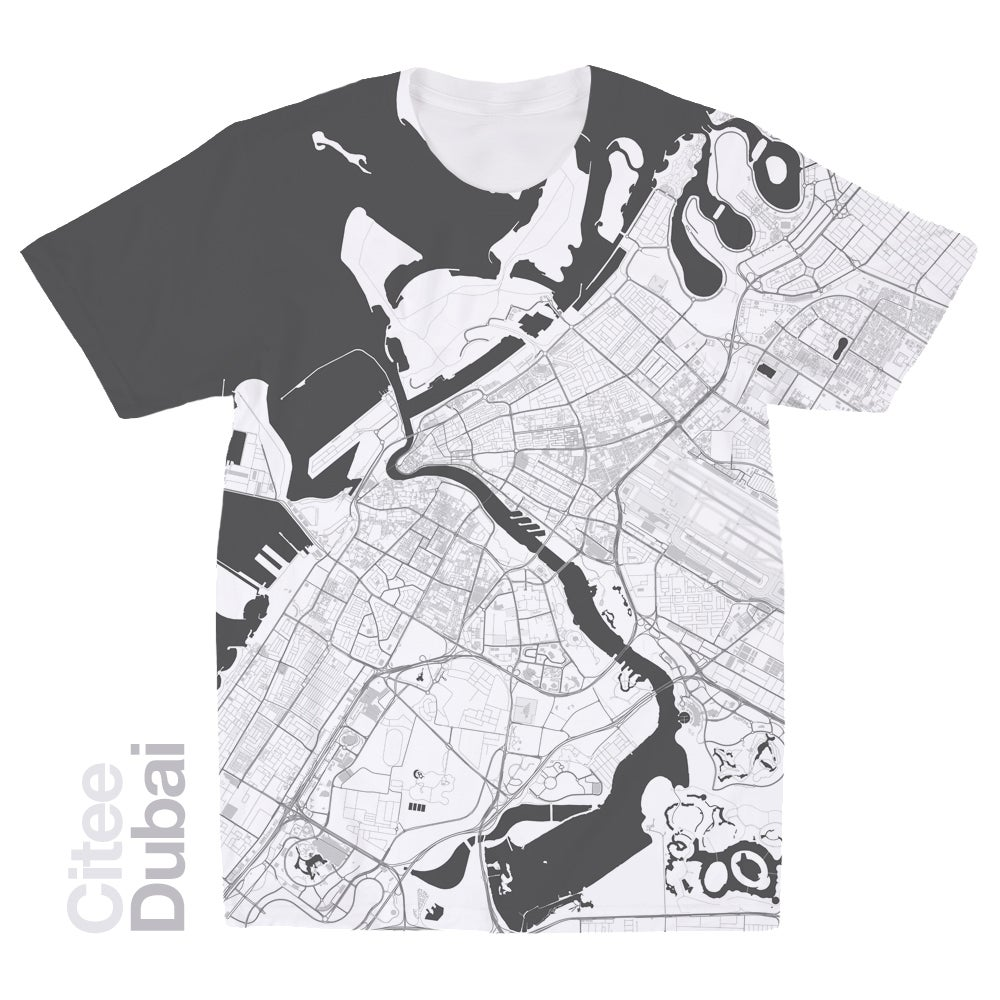 Image of Dubai map t-shirt