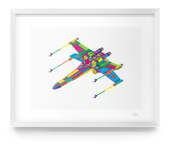 Image of Star Wars X-Wing Print Alt