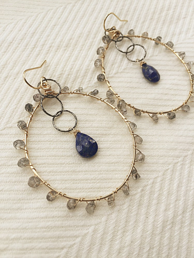 Image of Lapis hoops