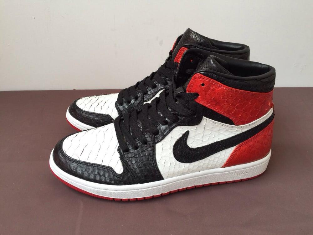 b371425cb1d Jordan 1 Black Toe Full Python / Rudboy Market // Custom & Shop