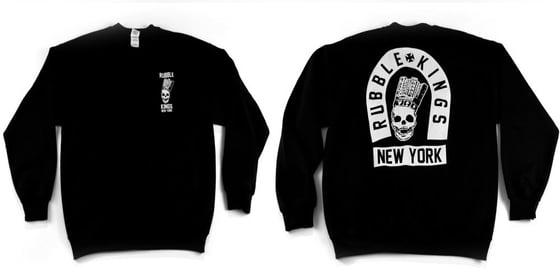 Image of Rubble Kings Black Skull NY Sweatshirt