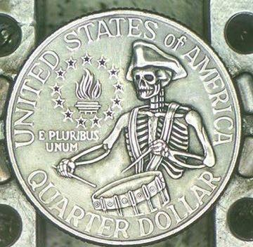 Image of Bicentennial Quarter Skeleton
