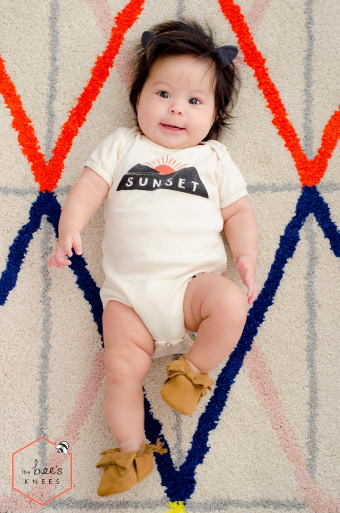 Image of SUNSET babies' bodysuit - Organic