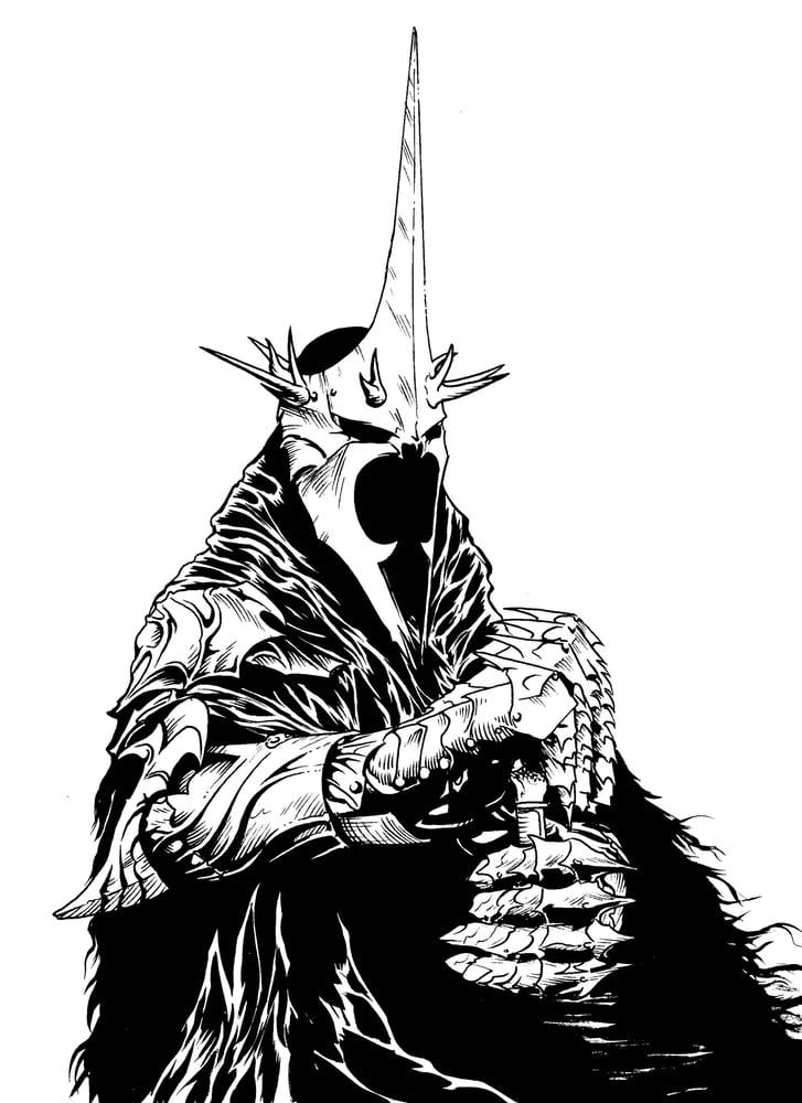 Image of Nazgul original mock up line-art piece