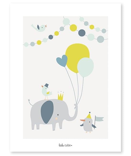 """Image of Lámina Infantil """"Elefante con globos"""" (-25%)"""
