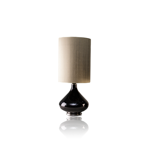 Image of Flavia Table Lamp with Beige Shade