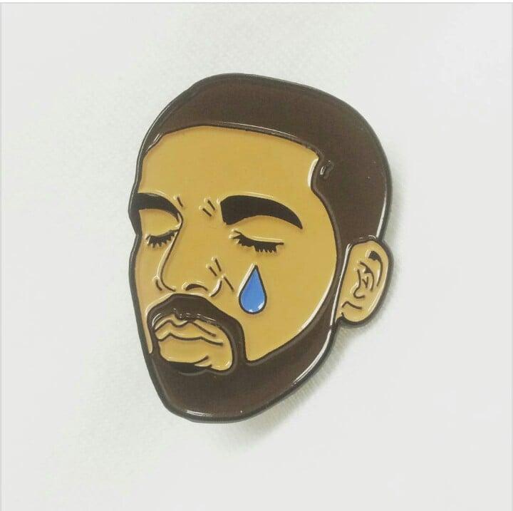 Image of DRAKE TEARS ENAMEL PIN