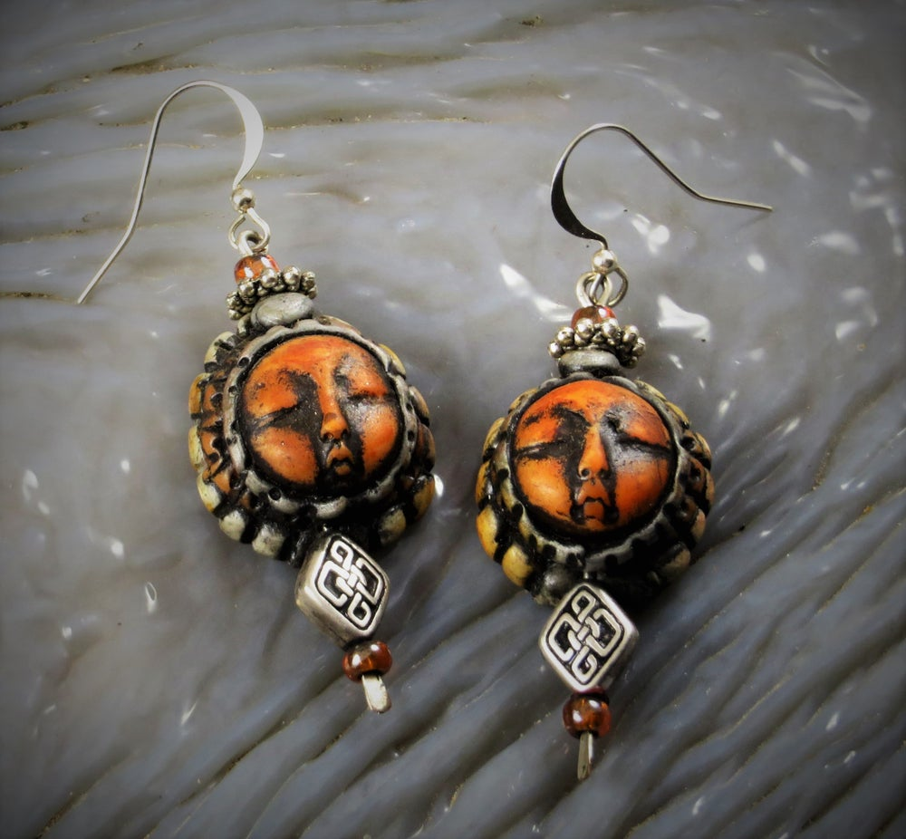 Image of Sun Faerie Celtic Magic Earrings