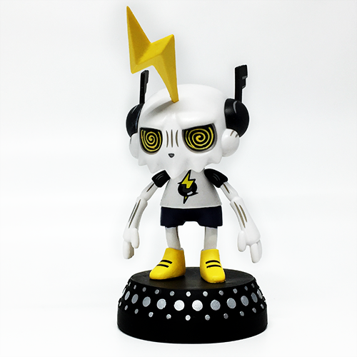 Image of DJ Trakkz vinyl art toy for turntables
