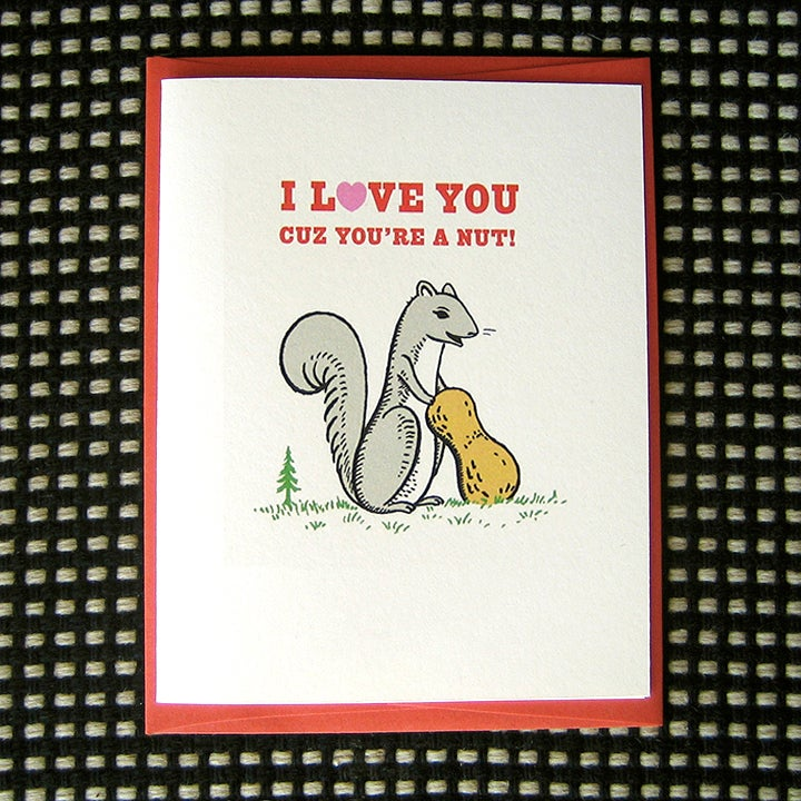 Image of NUTTY GREETING CARD