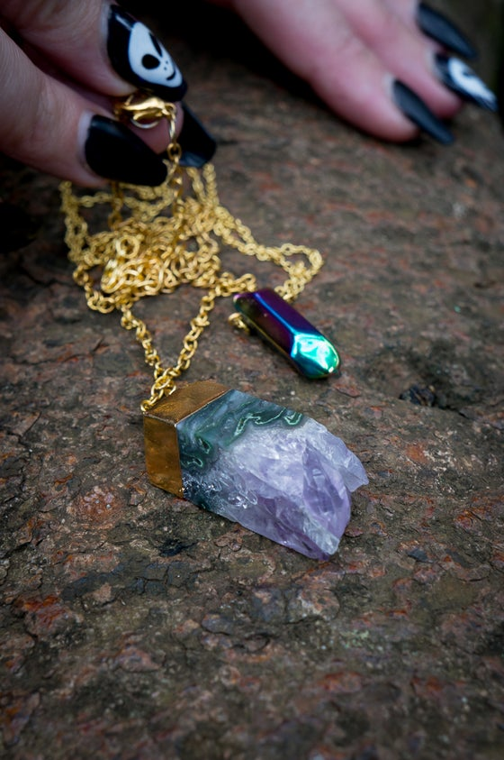 Image of long gemstone necklaces