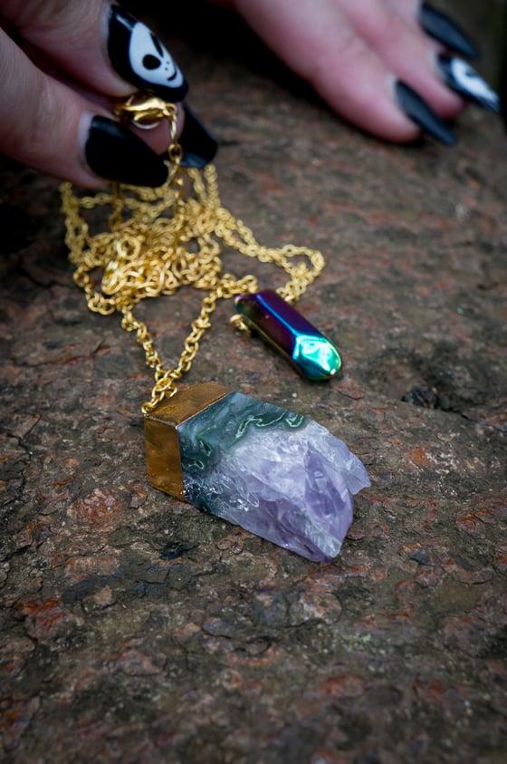 Image of long gemstone necklaces