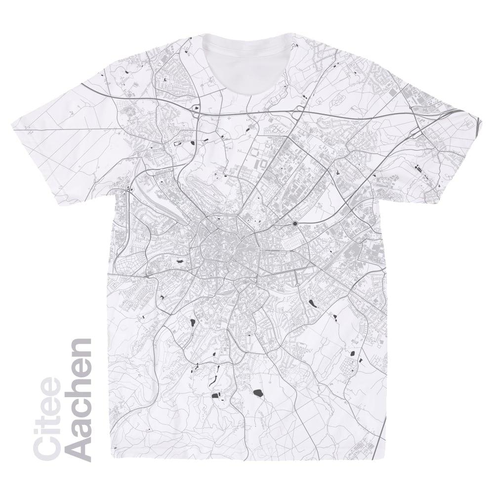 Citee Fashion Aachen map tshirt