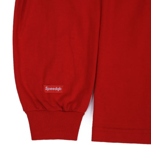 Image of SpeedQB Box Logo Longsleeve T-shirt - Red