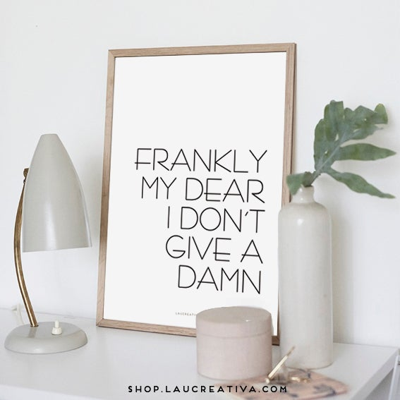 Image of Lámina ·Frankly my dear·
