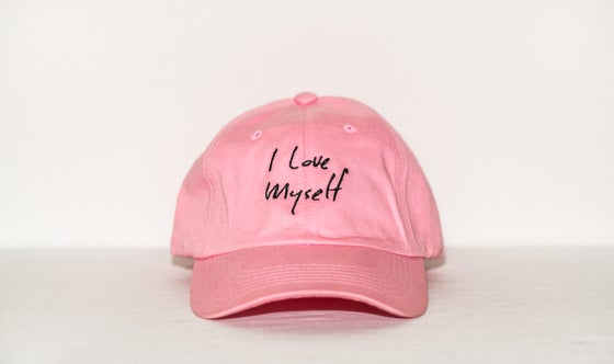 Image of Pink I Love Myself hat