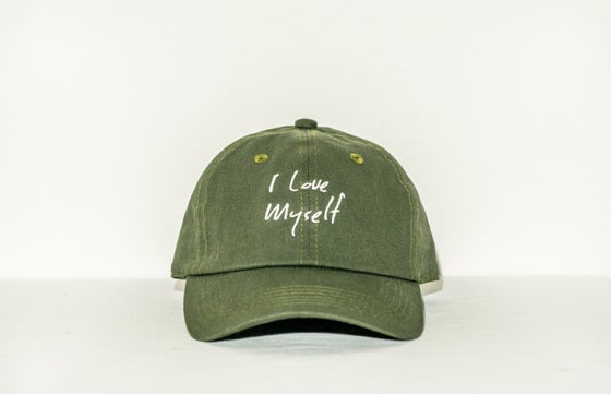 Image of Olive Green I Love Myself hat