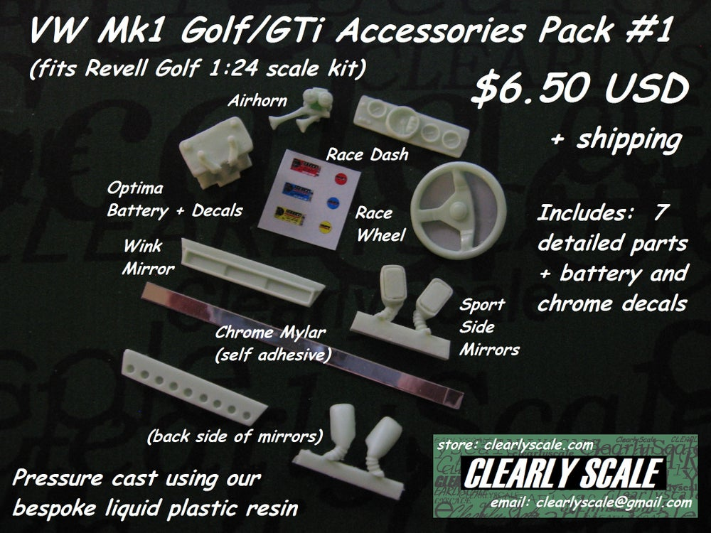 Image of VW Mk1 Golf/GTi Accessories Pack #1
