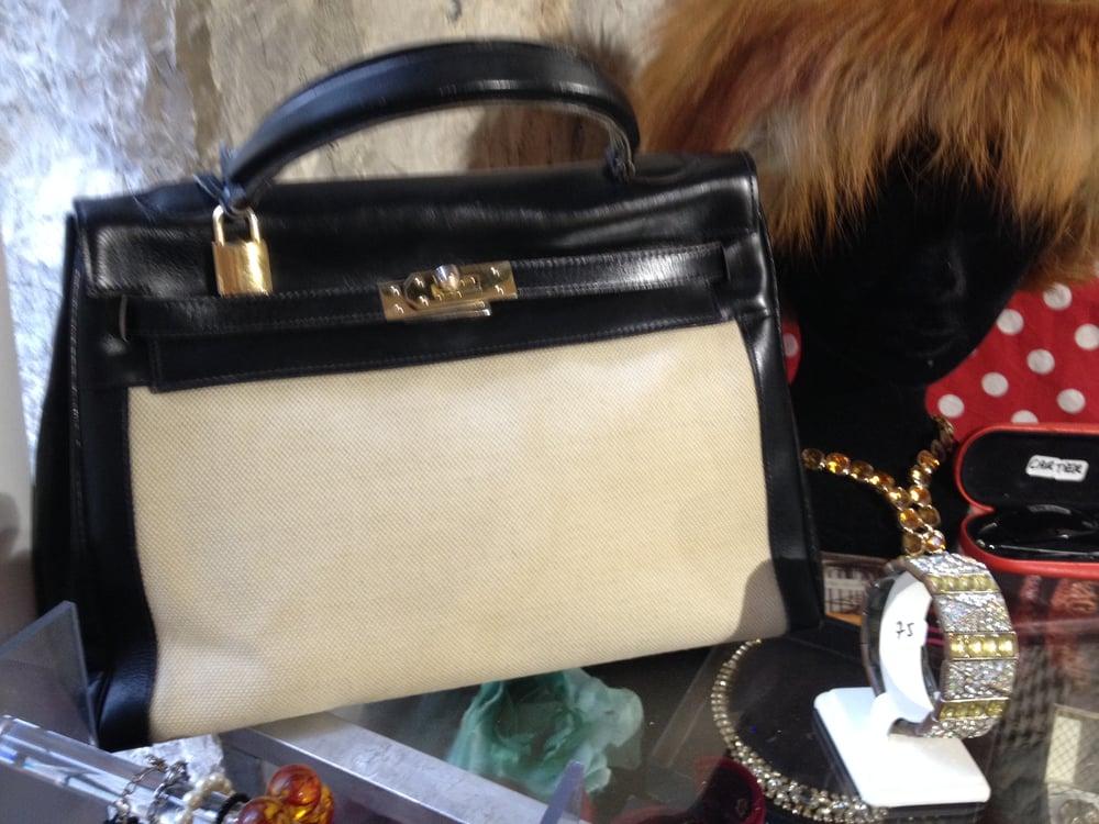 """Image of Beau sac toile et cuir modèle """"Kelly"""""""