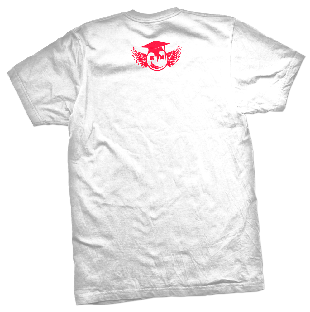 "Image of ""Too Eazy"" tee (White/Infrared)"