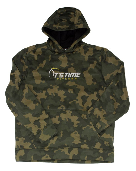 Image of It's Time Fitness Logo Camo Hoodie