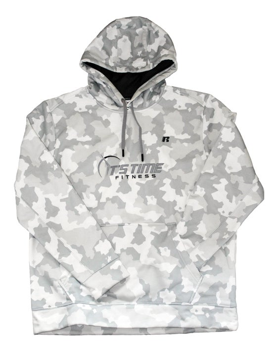 Image of It's Time Fitness Logo White Hoodie