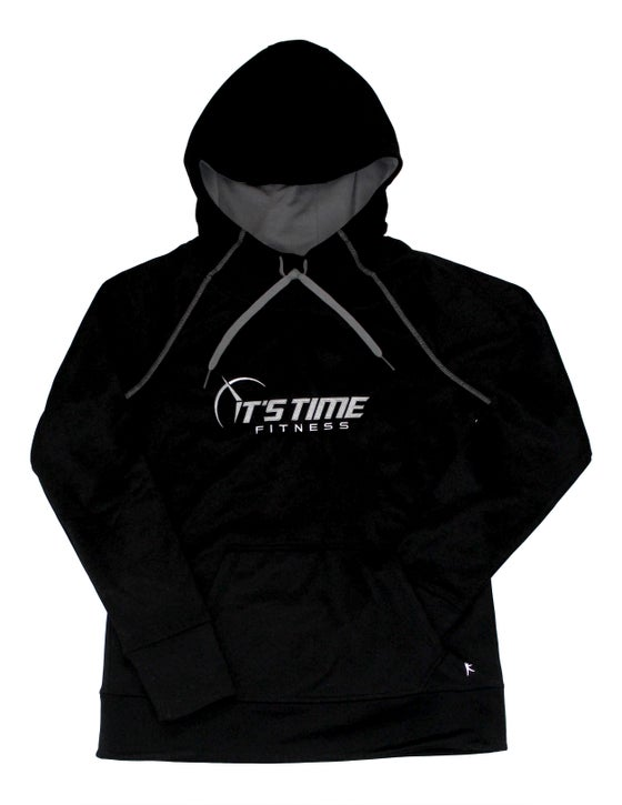 Image of It's Time Fitness Logo Black Hoodie