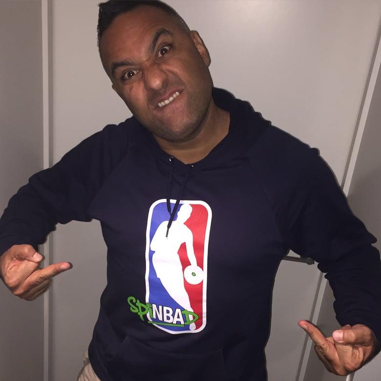 """Image of Spinbad """"NBA"""" Hoodie"""