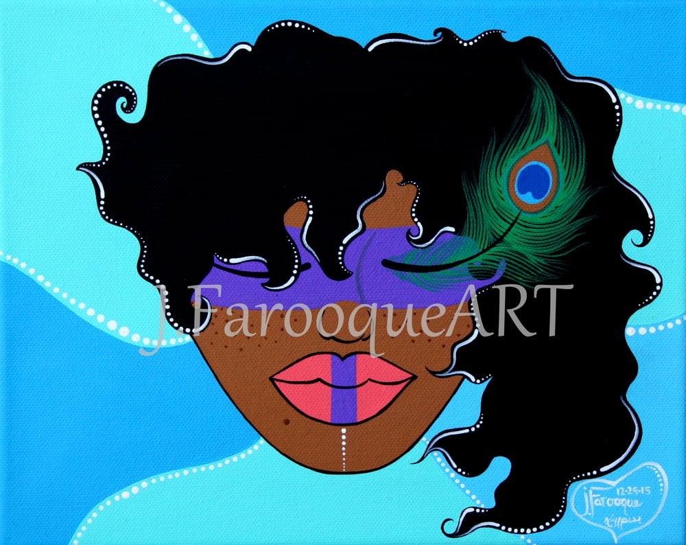 "Image of ""Peacock Masquerade"" Art Print!"