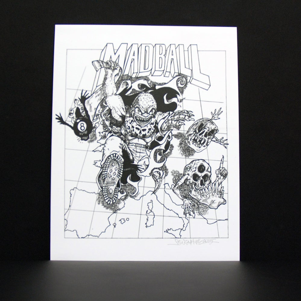 Image of STEVEN HUIE- MADBALL EUROPE TOUR PRINT