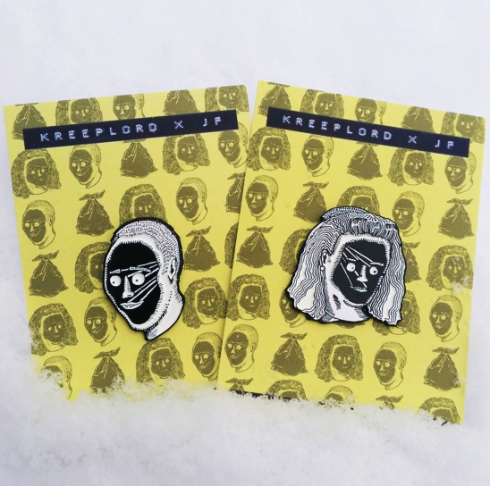 Image of VOIDFACE ENAMEL PIN SET