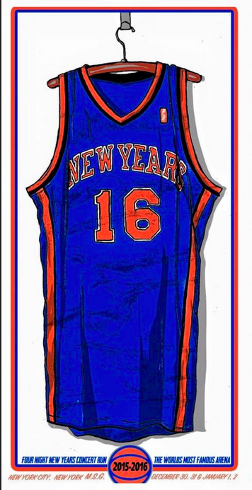 Image of New York Knicks MSG NYE BLUE VARIANT Print