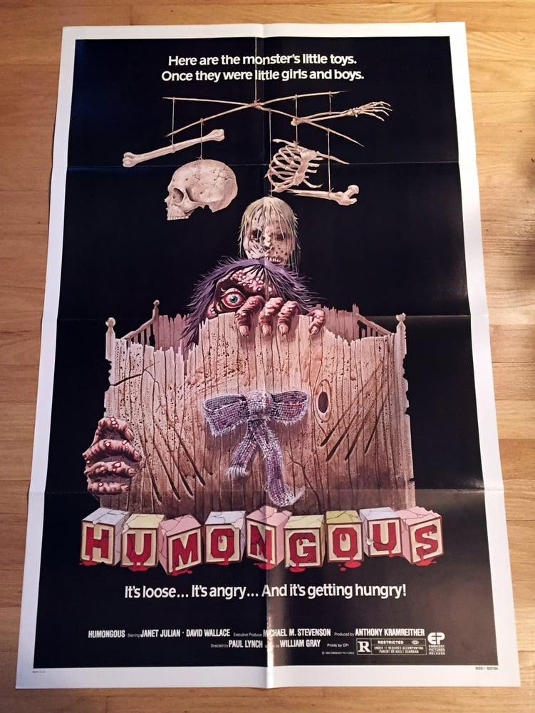 Image of 1982 HUMONGOUS Original U.S. One Sheet Movie Poster