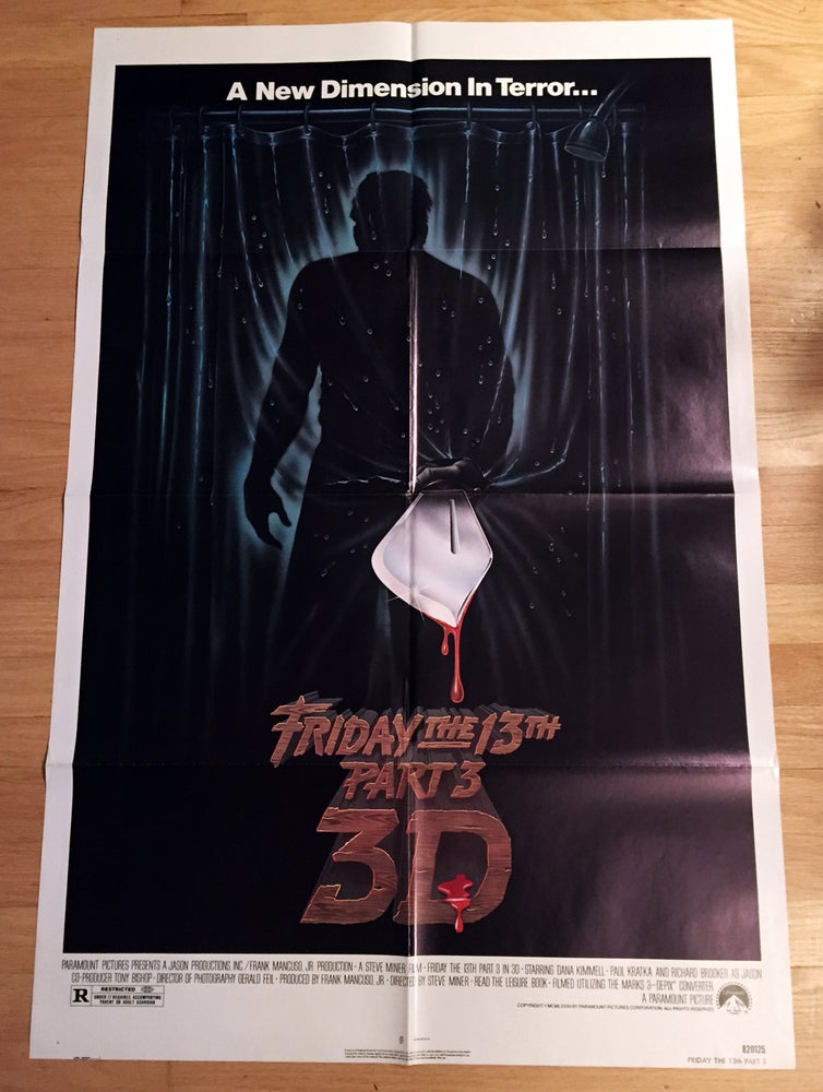 Image of 1982 FRIDAY THE 13TH PART III Original U.S. One Sheet Movie Poster