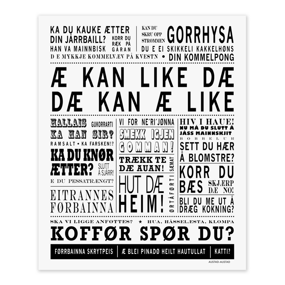 "Troms postkort ""Æ kan like dæ"""